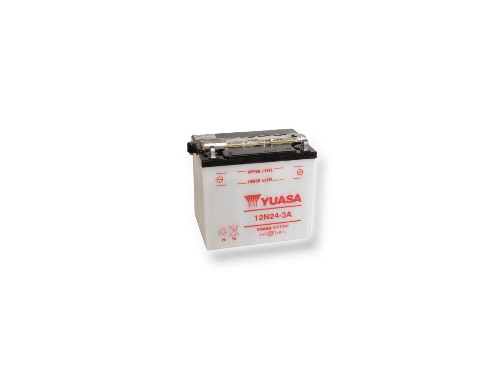 Motobatéria YUASA (originál) 12N24-3A, 12V,  24Ah  dodávané vrátane balenia akumulátorovej kyseliny