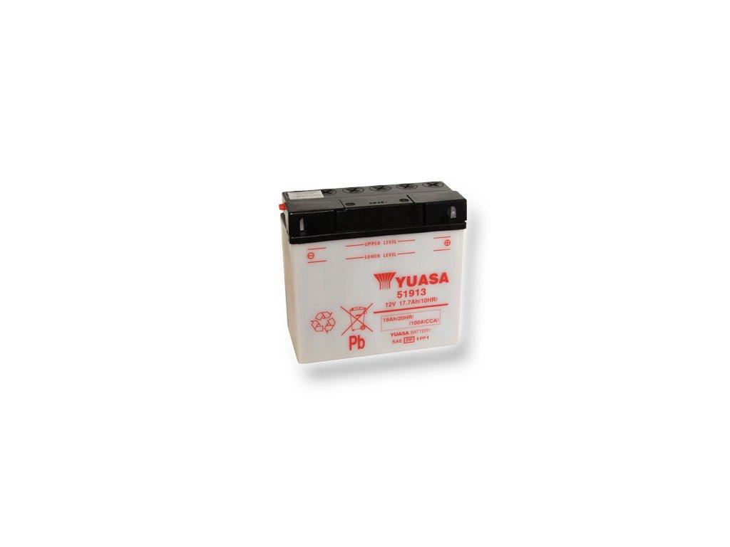 Motobatéria YUASA (originál) 51913, 12V,  19Ah  dodávané vrátane balenia akumulátorovej kyseliny