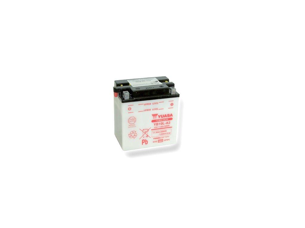 Motobatéria YUASA (originál) YB10L-A2, 12V,  11Ah  dodávané vrátane balenia akumulátorovej kyseliny