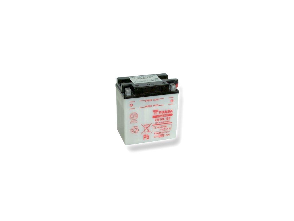 Motobatéria YUASA (originál) YB10L-B2, 12V,  11Ah  dodávané vrátane balenia akumulátorovej kyseliny