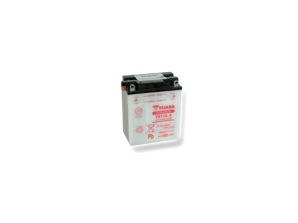 Motobatéria YUASA (originál) YB12A-A, 12V,  12Ah  dodávané vrátane balenia akumulátorovej kyseliny