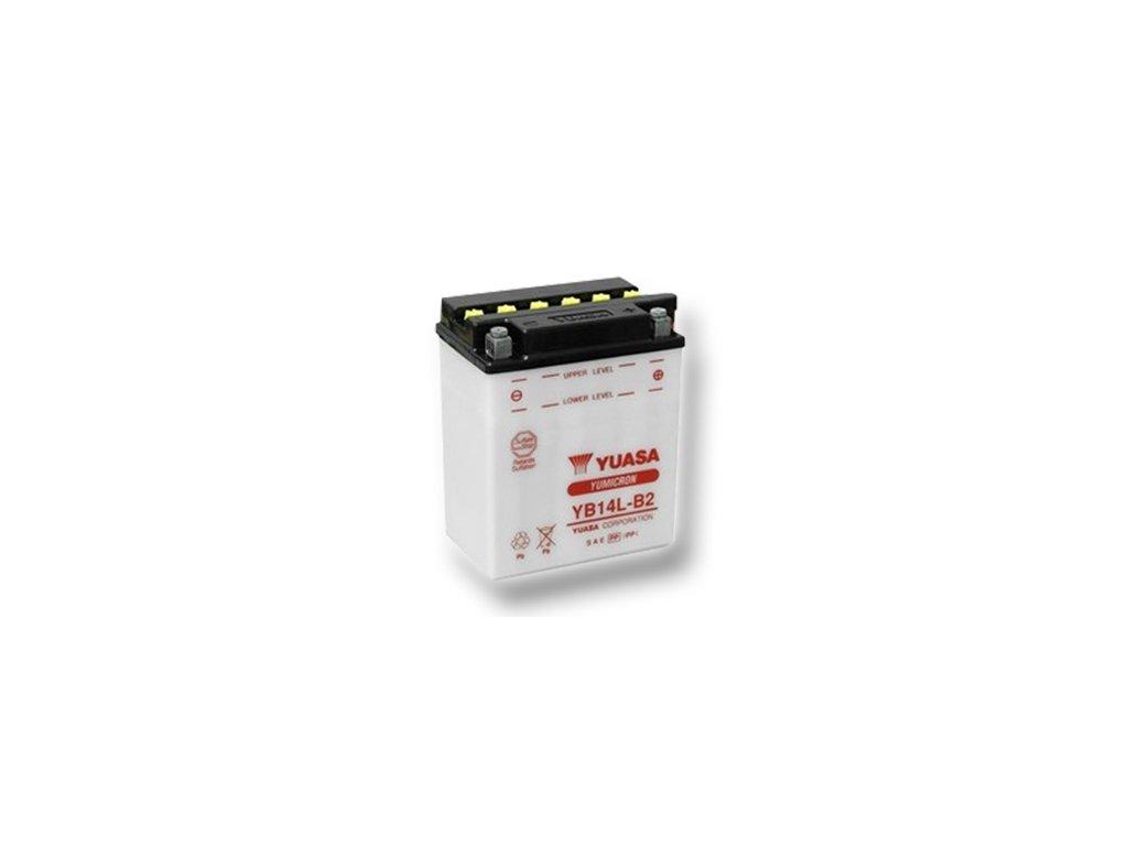 Motobatéria YUASA (originál) YB14L-B2, 12V,  14Ah  dodávané vrátane balenia akumulátorovej kyseliny