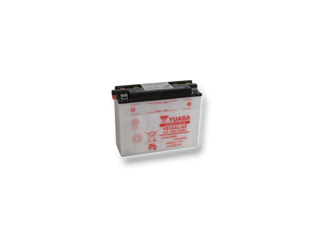 Motobatéria YUASA (originál) YB16AL-A2, 12V,  16Ah  dodávané vrátane balenia akumulátorovej kyseliny