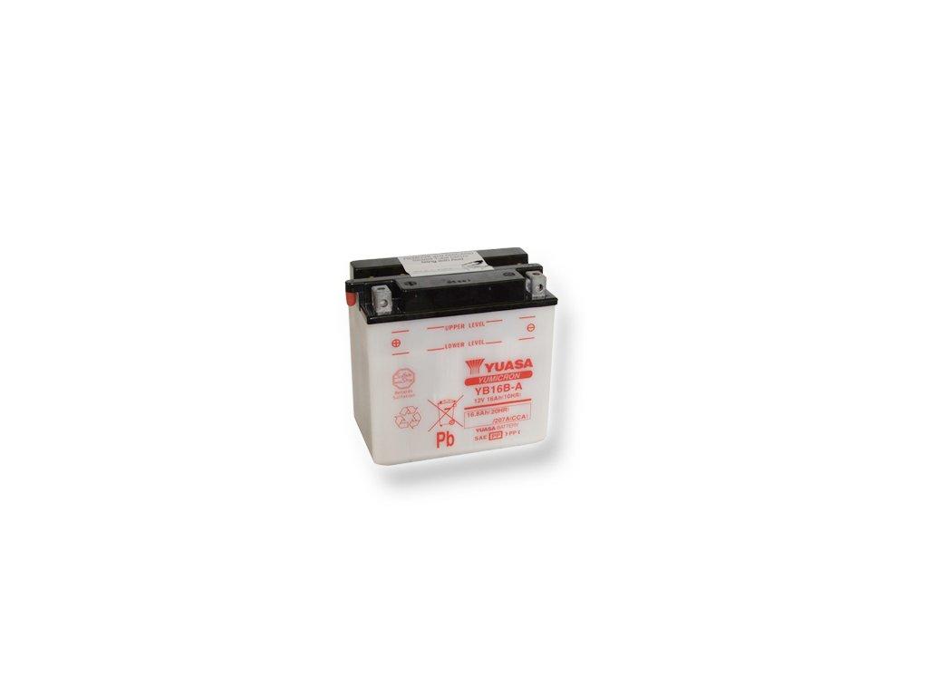 Motobatéria YUASA (originál) YB16B-A, 12V,  16Ah  dodávané vrátane balenia akumulátorovej kyseliny