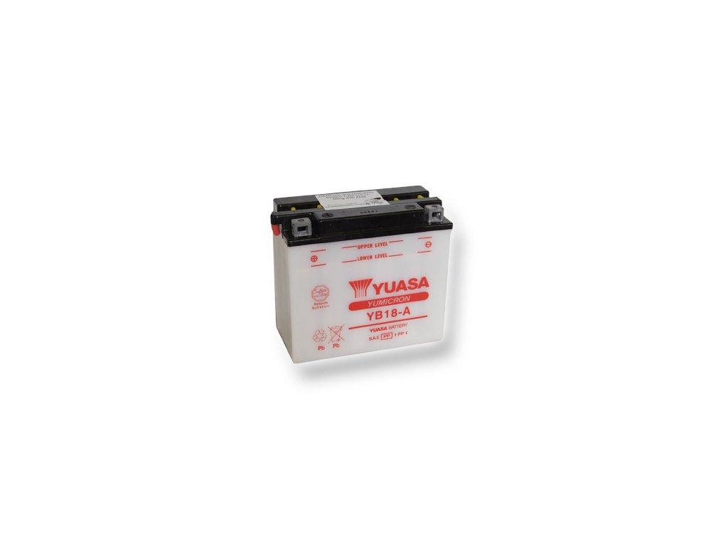 Motobatéria YUASA (originál) YB18-A, 12V,  18Ah  dodávané vrátane balenia akumulátorovej kyseliny