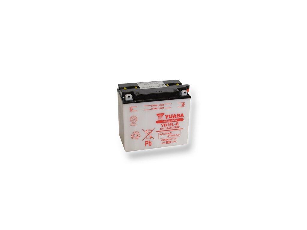 Motobatéria YUASA (originál) YB16L-B, 12V,  19Ah  dodávané vrátane balenia akumulátorovej kyseliny