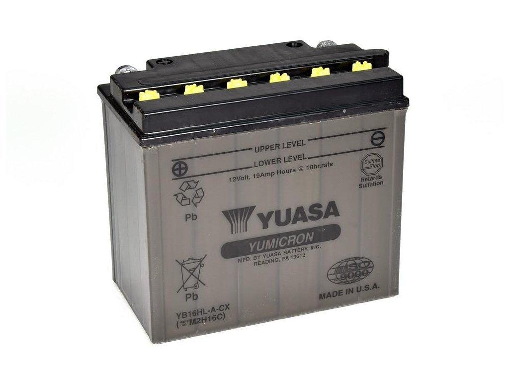 Motobatéria YUASA (originál) YB16HL-A-CX, 12V,  19Ah  dodávané vrátane balenia akumulátorovej kyseliny