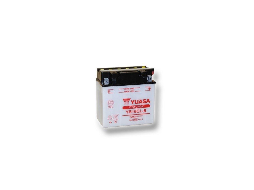 Motobatéria YUASA (originál) YB16CL-B, 12V,  19Ah  dodávané vrátane balenia akumulátorovej kyseliny