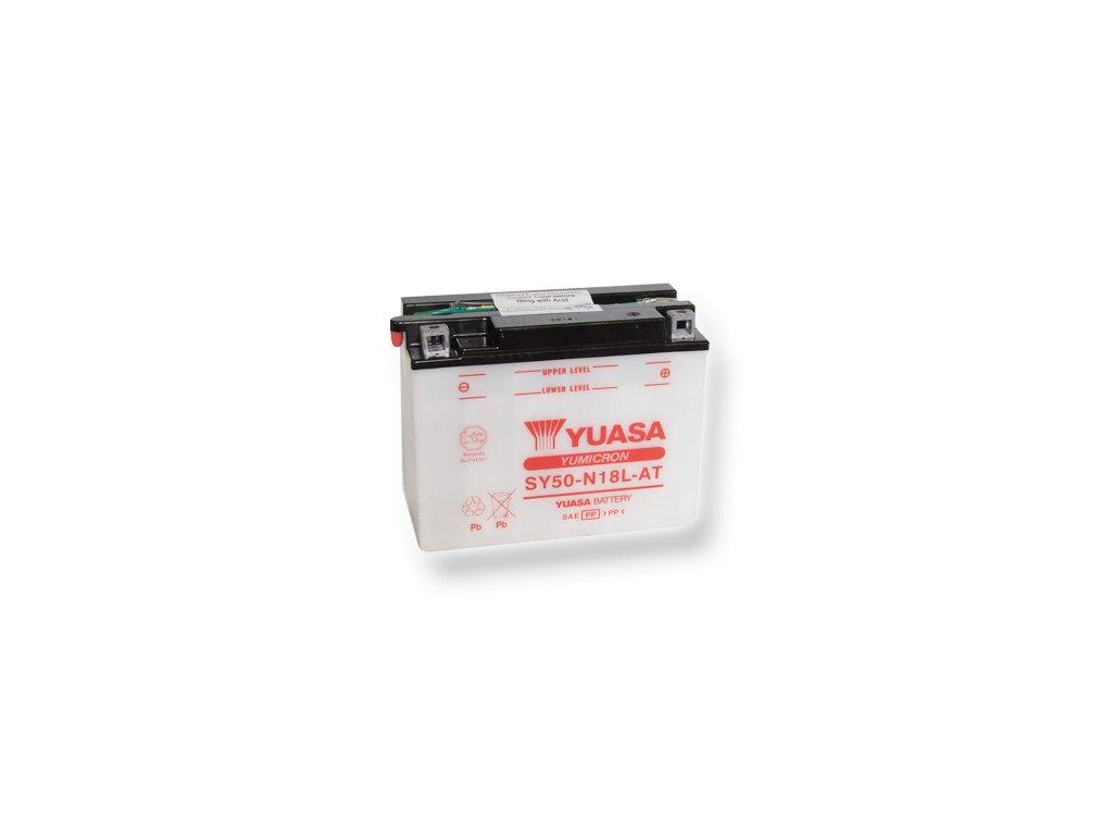 Motobaterie YUASA (originál) SY50-N18L-AT, 12V,  20Ah  dodávané vrátane balenia akumulátorovej kyseliny