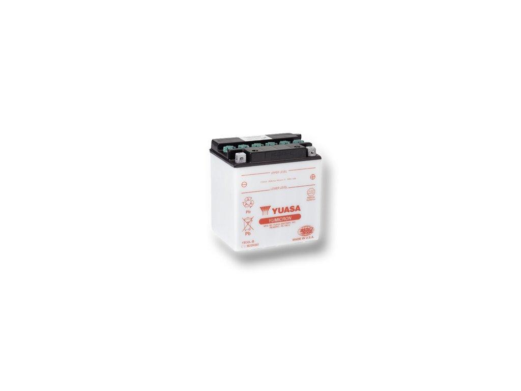Motobatéria YUASA (originál) YB30L-B, 12V,  30Ah  dodávané vrátane balenia akumulátorovej kyseliny