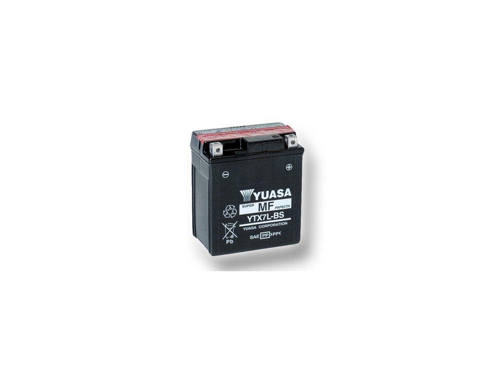 Motobatéria YUASA (originál) YTX7L-BS, 12V,  6Ah  dodávané vrátane balenia akumulátorovej kyseliny