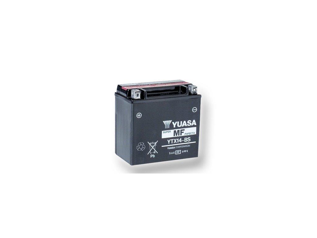 Motobatéria YUASA (originál) YTX14-BS, 12V,  12Ah