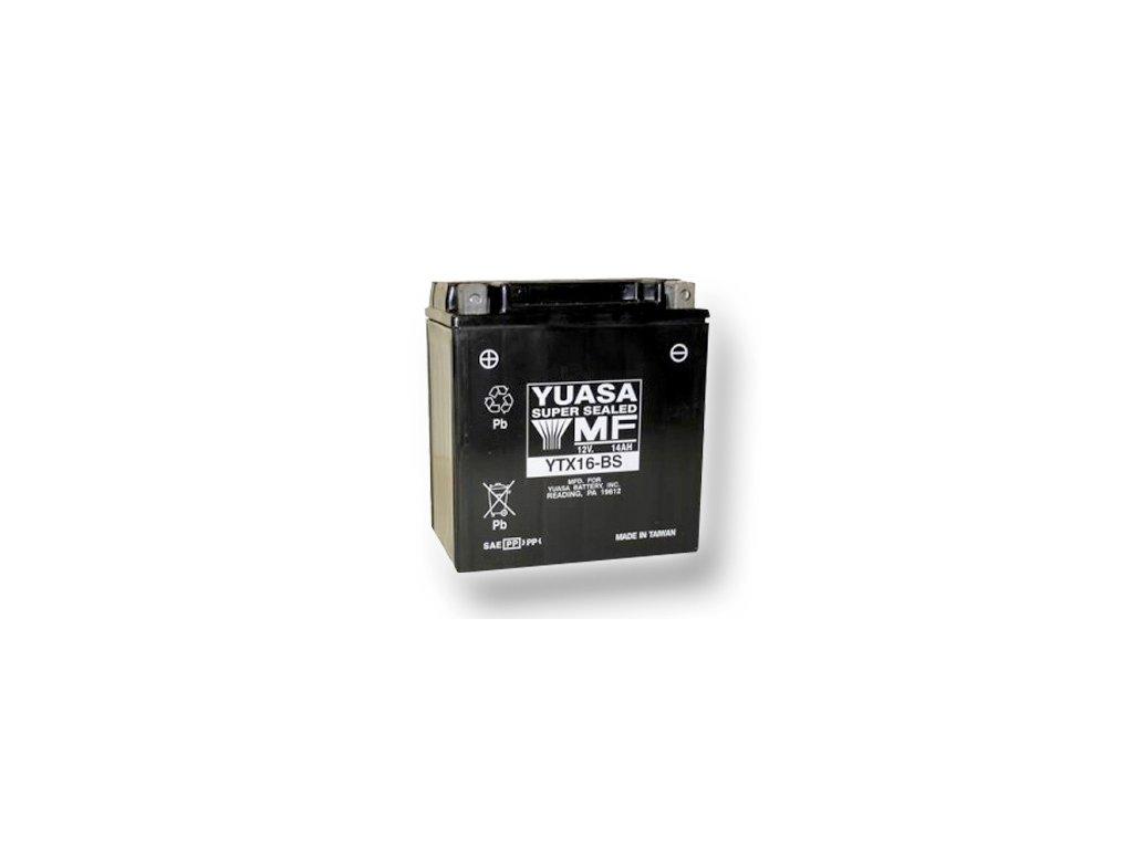 Motobatéria YUASA (originál) YTX16-BS, 12V,  14Ah  dodávané vrátane balenia akumulátorovej kyseliny