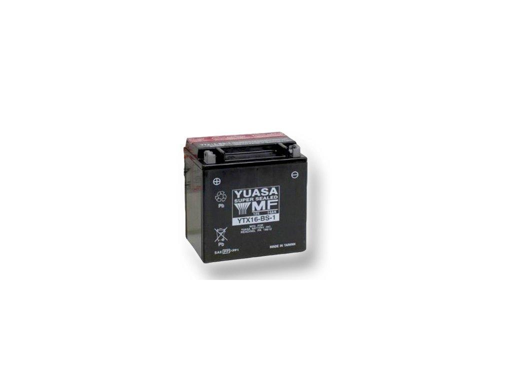 Motobatéria YUASA (originál) YTX16-BS-1, 12V,  14Ah  dodávané vrátane balenia akumulátorovej kyseliny