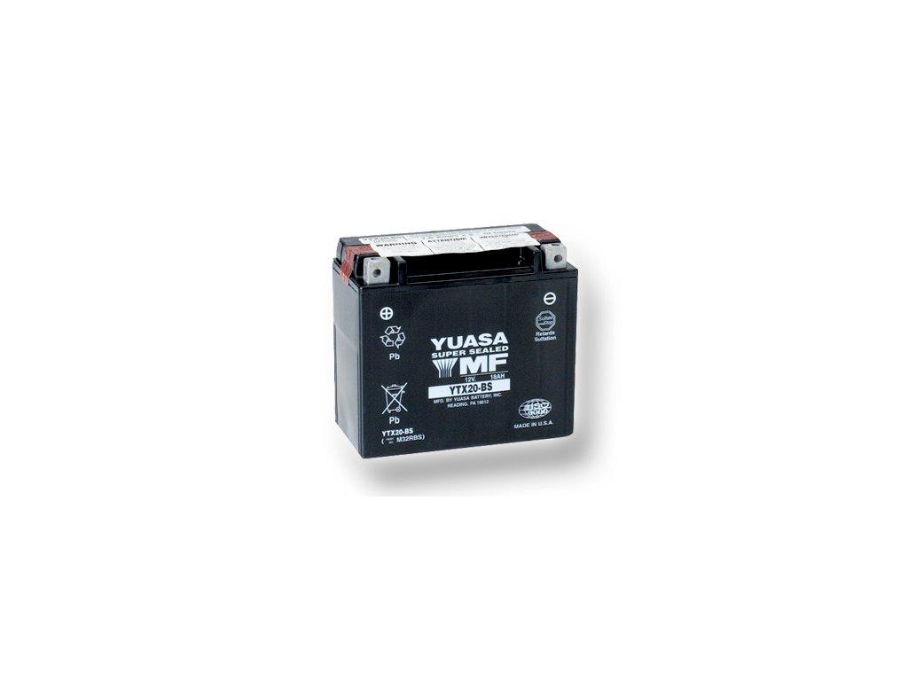 Motobatéria YUASA (originál) YTX20-BS, 12V,  18Ah