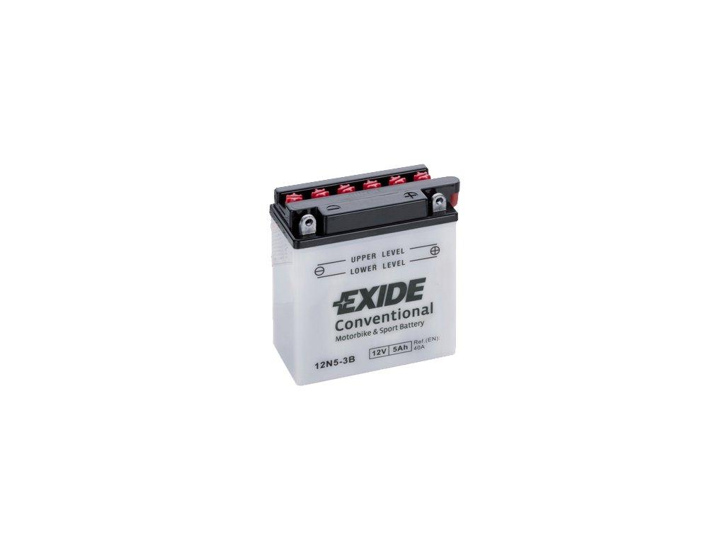 Motobatérie EXIDE BIKE Conventional 5Ah, 12V, YB5L-B / 12N5-3B