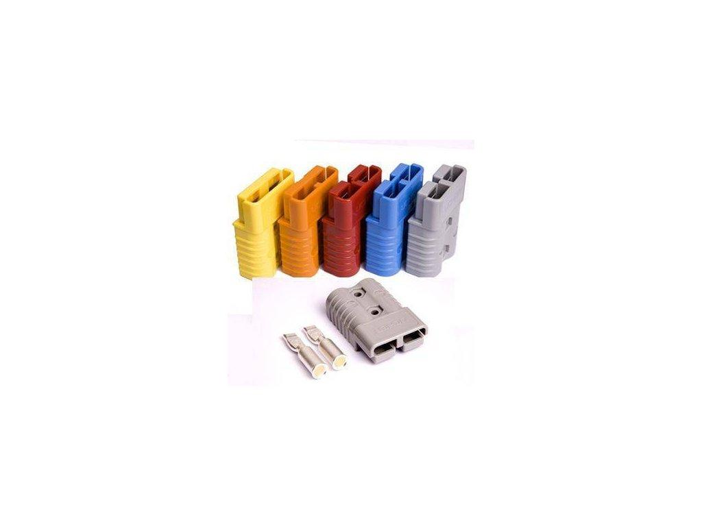 Konektor 2 pólový 50A 24V červený SC50