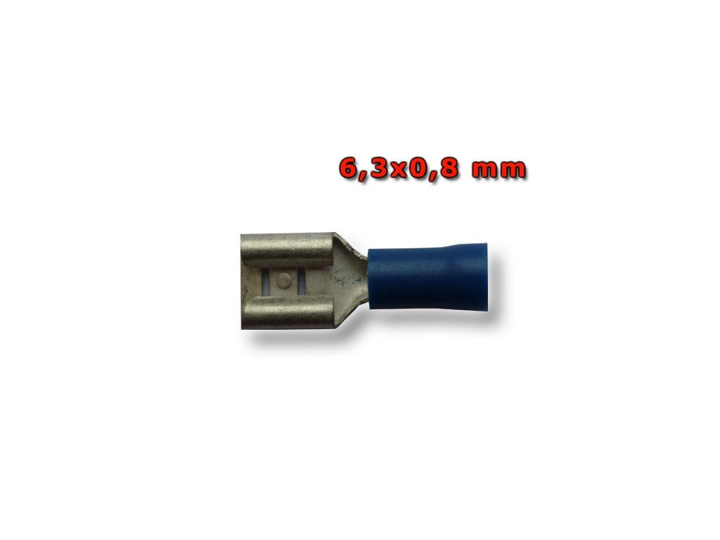 Faston zásuvka FH63X08RT 6,3x0,8 mm; 0,5-1,5 mm2; modrý