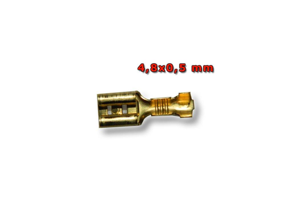 Faston zásuvka FH48X05M1 4,8x0,5 mm; 0,5-1 mm2; zlatý