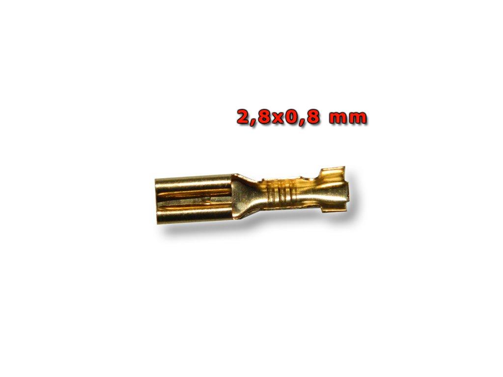 Faston zásuvka FS7015-BS 2,8x0,8 mm; 0,5-1,5 mm2; zlatý