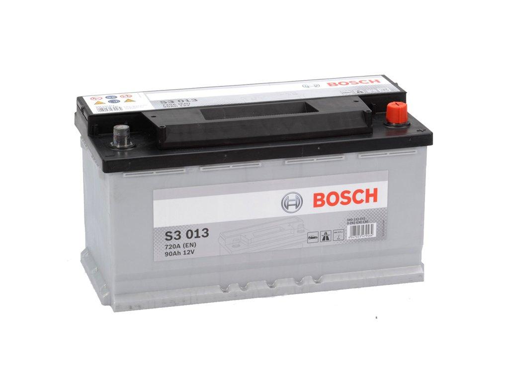 Autobatéria BOSCH S3 013, 90Ah, 12V (0 092 S30 130)
