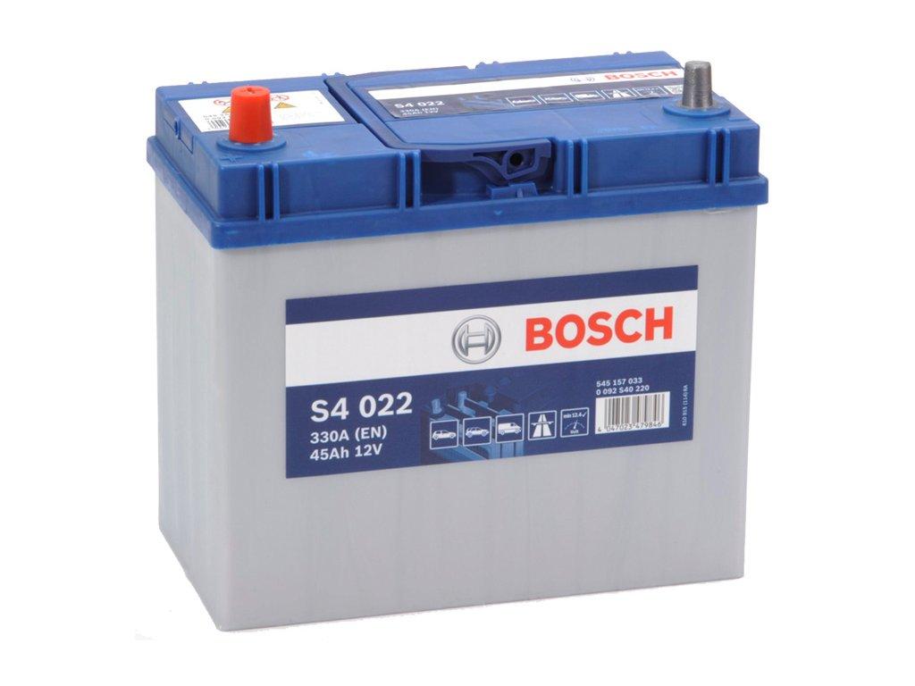 Autobaterie BOSCH S4 022, 45Ah, 12V (0 092 S40 220
