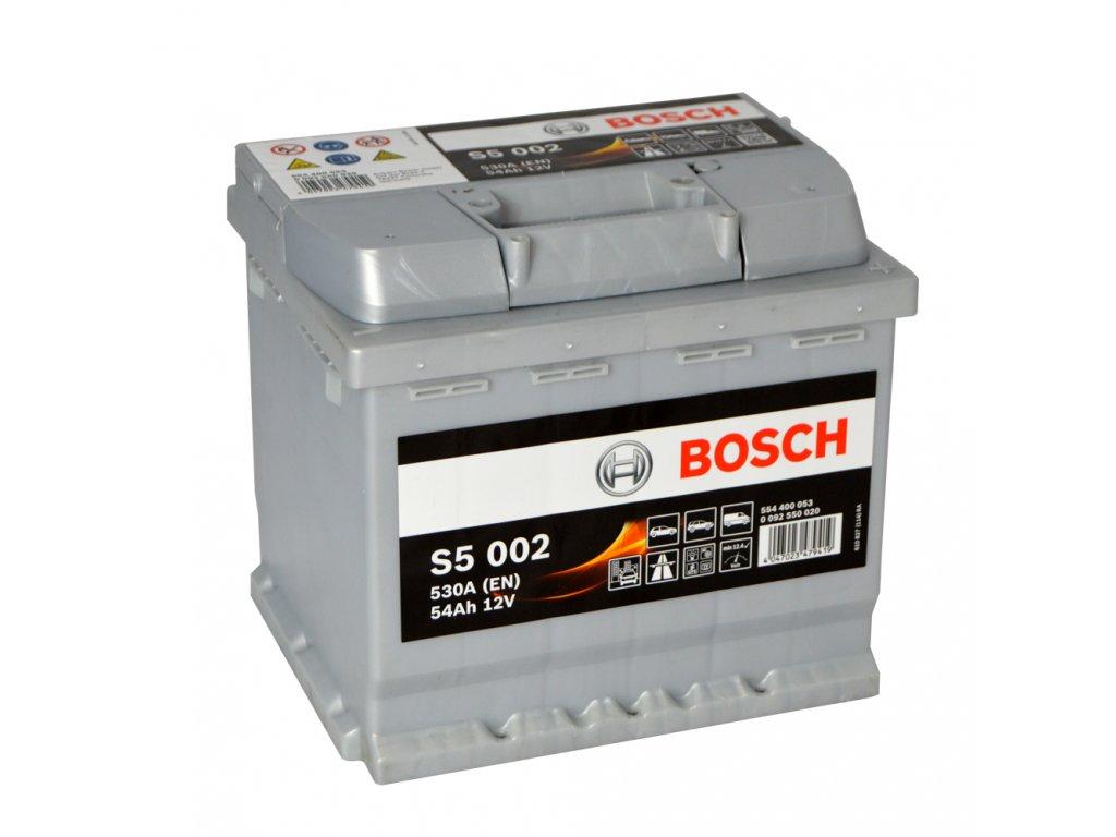 Autobatéria BOSCH S5 002, 54Ah, 12V (0 092 S50 020)