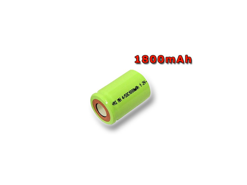 Nabíjecí průmyslový článek, baterie NiMh 4/5 SC 1,2V 1800mAh