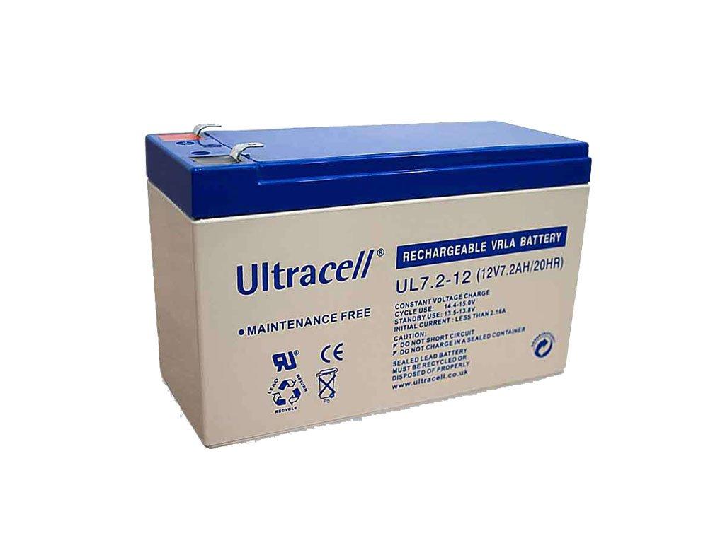 Ultracell Záložná batéria UL7.2-12F2 (12V - 7,2Ah), VRLA-AGM