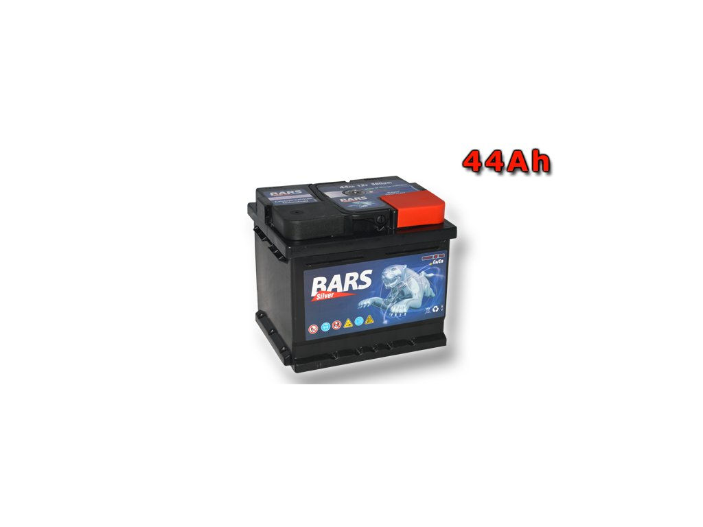 Autobatérie BARS 44Ah, 12V, 380A (207x175x175mm), bezúdržbový
