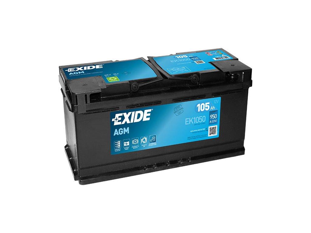 Autobatéria EXIDE START-STOP AGM 105Ah, 12V, EK1050