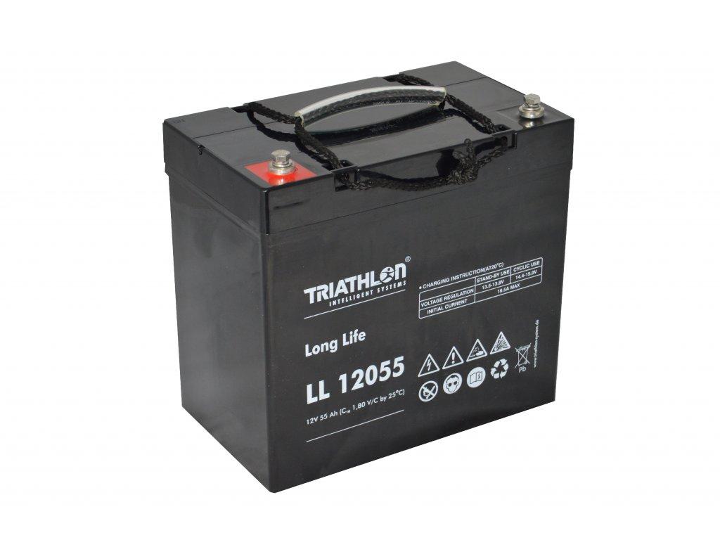 """TRIATHLON LL12055 (12V - 55Ah) Záložná batéria """"long life"""""""
