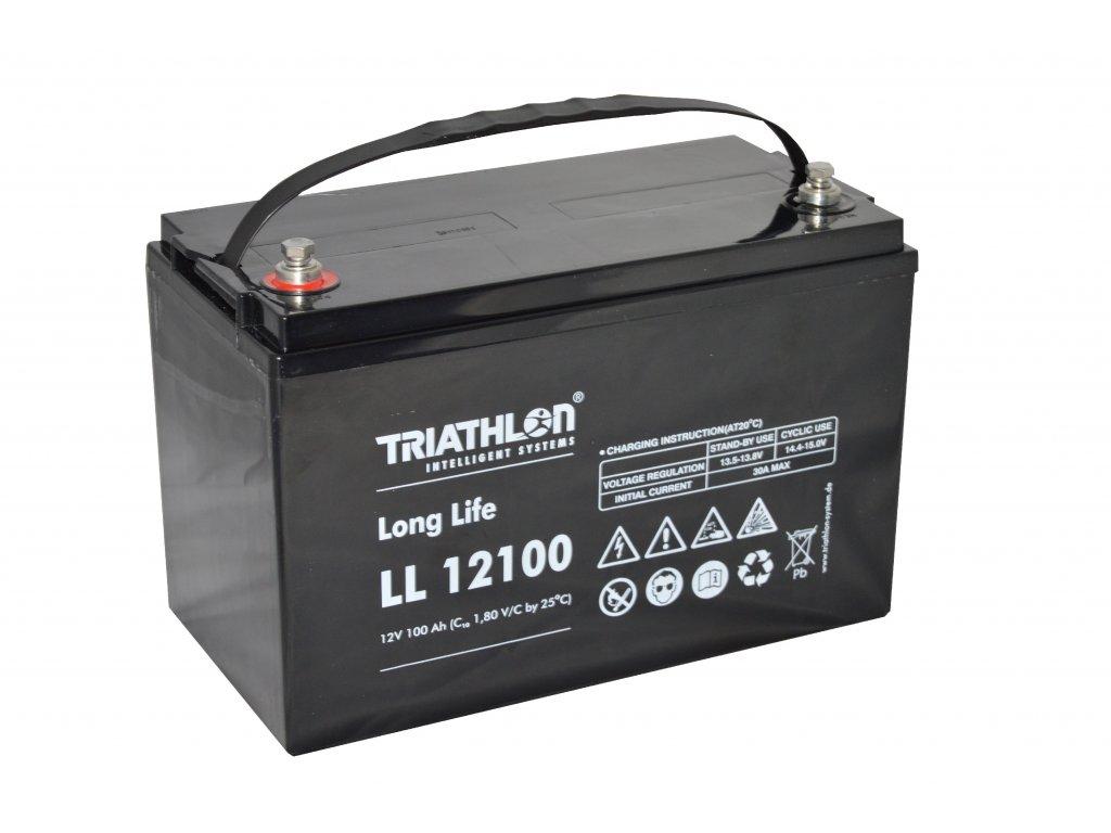 """TRIATHLON LL12100 (12V - 100Ah) Záložná batéria """"long life"""""""