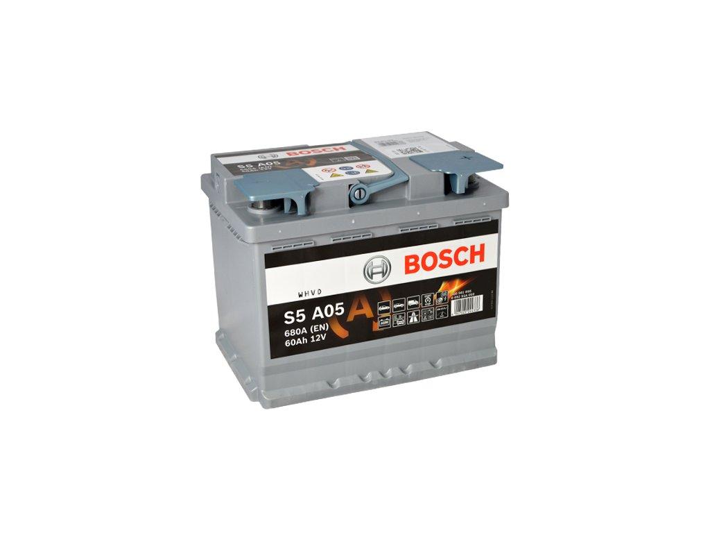 Autobaterie BOSCH S5A 050, 60Ah, 12V, AGM (0 092 S5A 050)