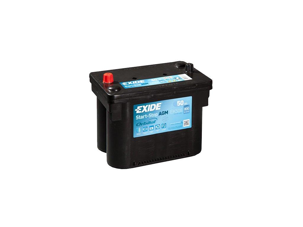 Autobatéria EXIDE START-STOP AGM 50Ah, 12V, EK508