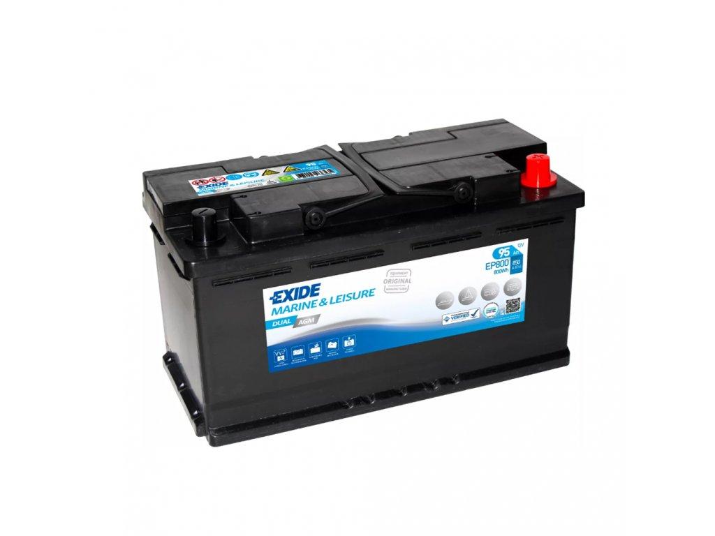 Batéria EXIDE DUAL AGM 92Ah, 12V, EP800 (EP 800)