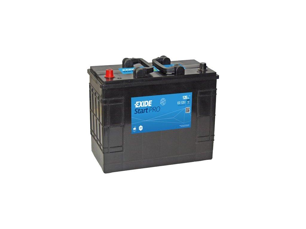 Autobatéria EXIDE StartPRO 125Ah, 12V, EG1251