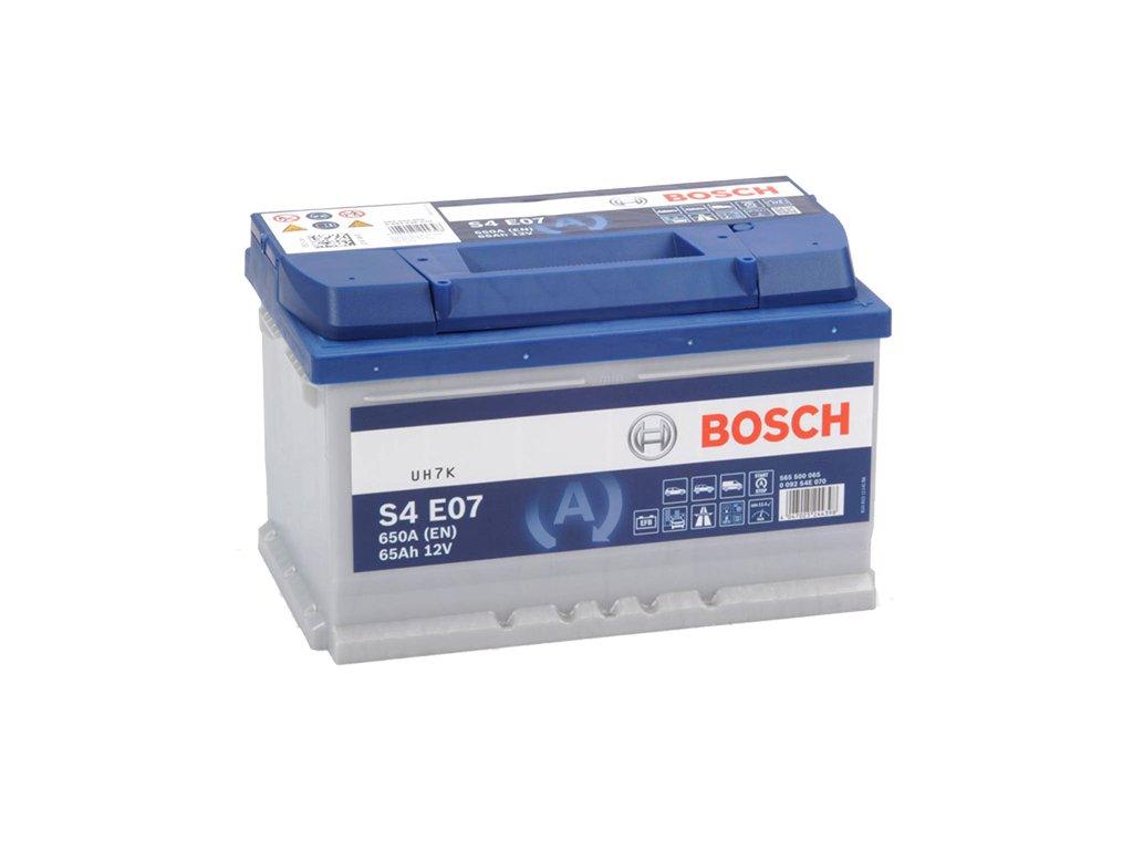 Autobatéria BOSCH S4 E07, 65Ah, 12V, EFB (0 092 S4E 070)