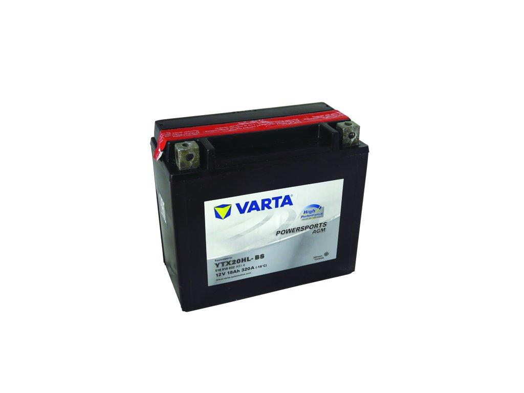 Motobatérie VARTA YTX20HL-BS, 12V,  18Ah
