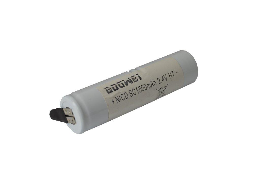 Baterie pro nouzová světla, osvětlení Goowei 2,4V 1500mAh vysokoteplotní (2STVTCs), faston 4,8mm