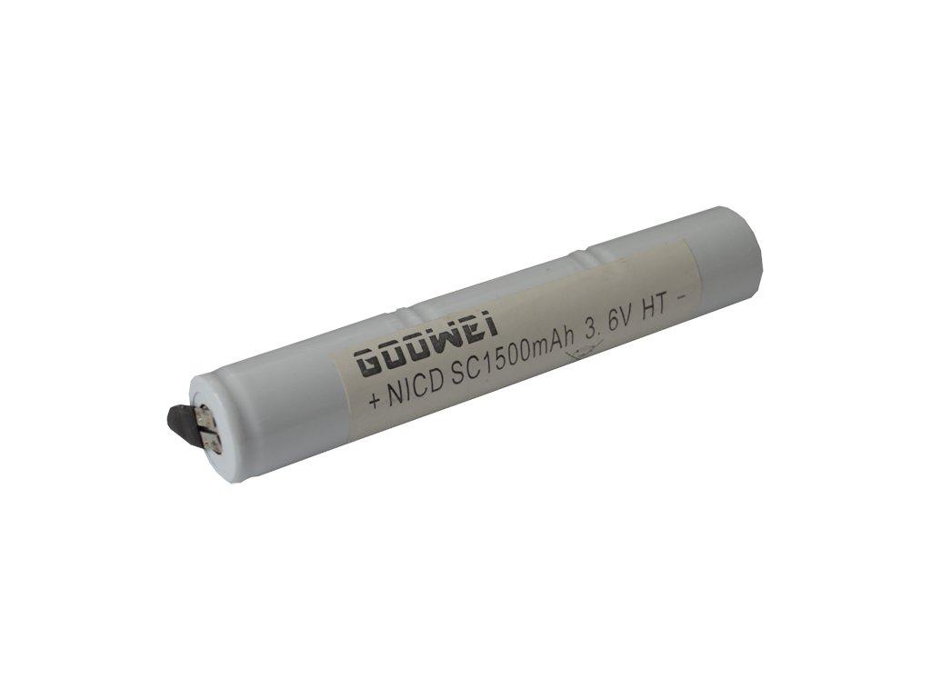 Baterie pro nouzová světla, osvětlení Goowei 3,6V 1500mAh vysokoteplotní (3STVTCs)
