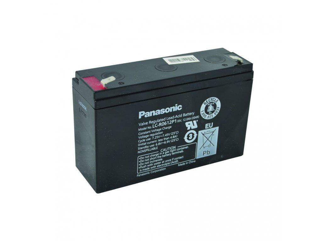 Staniční (záložní) baterie PANASONIC LC-R0612P1, 12Ah, 6V