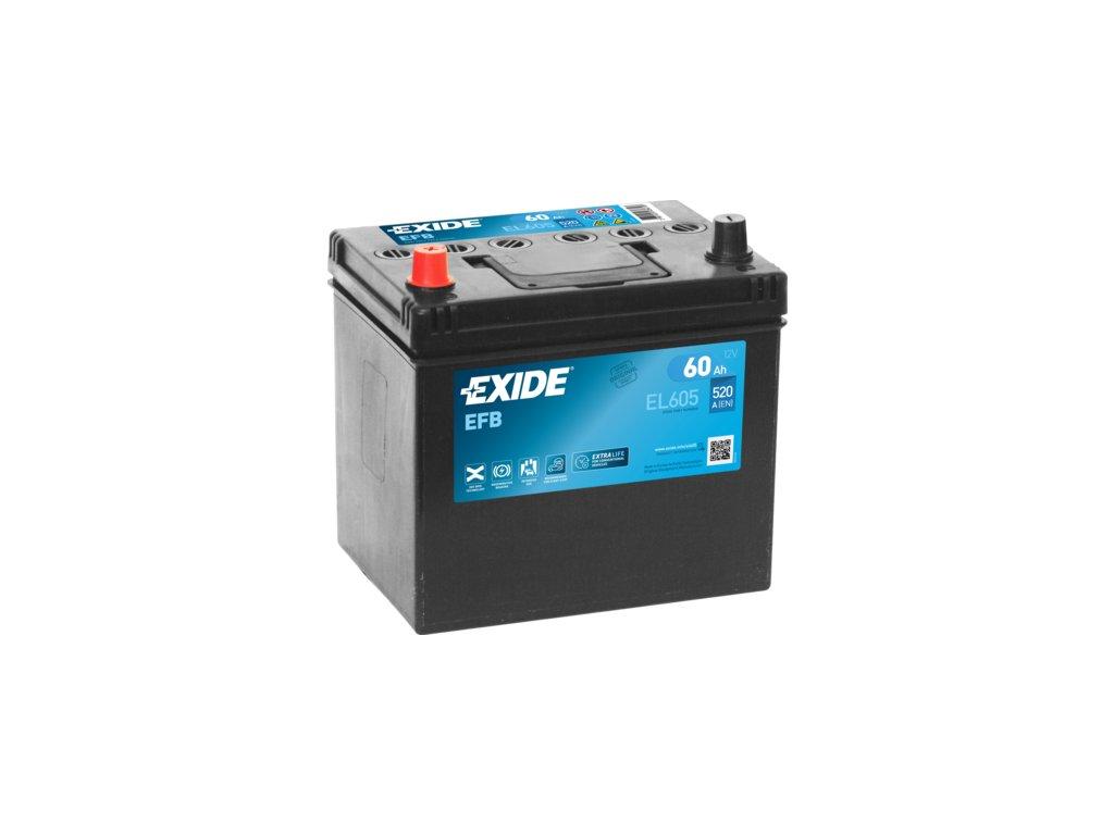 Autobaterie EXIDE START-STOP EFB 60Ah, 12V, EL605
