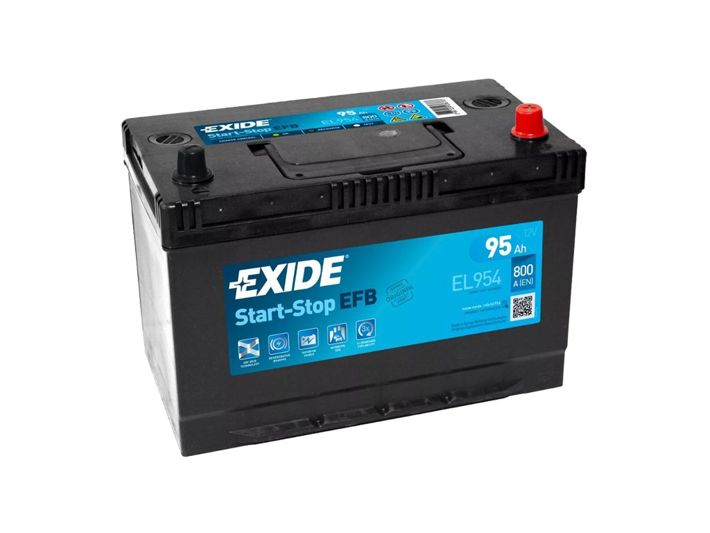 Autobaterie EXIDE START-STOP EFB 95Ah, 12V, EL954