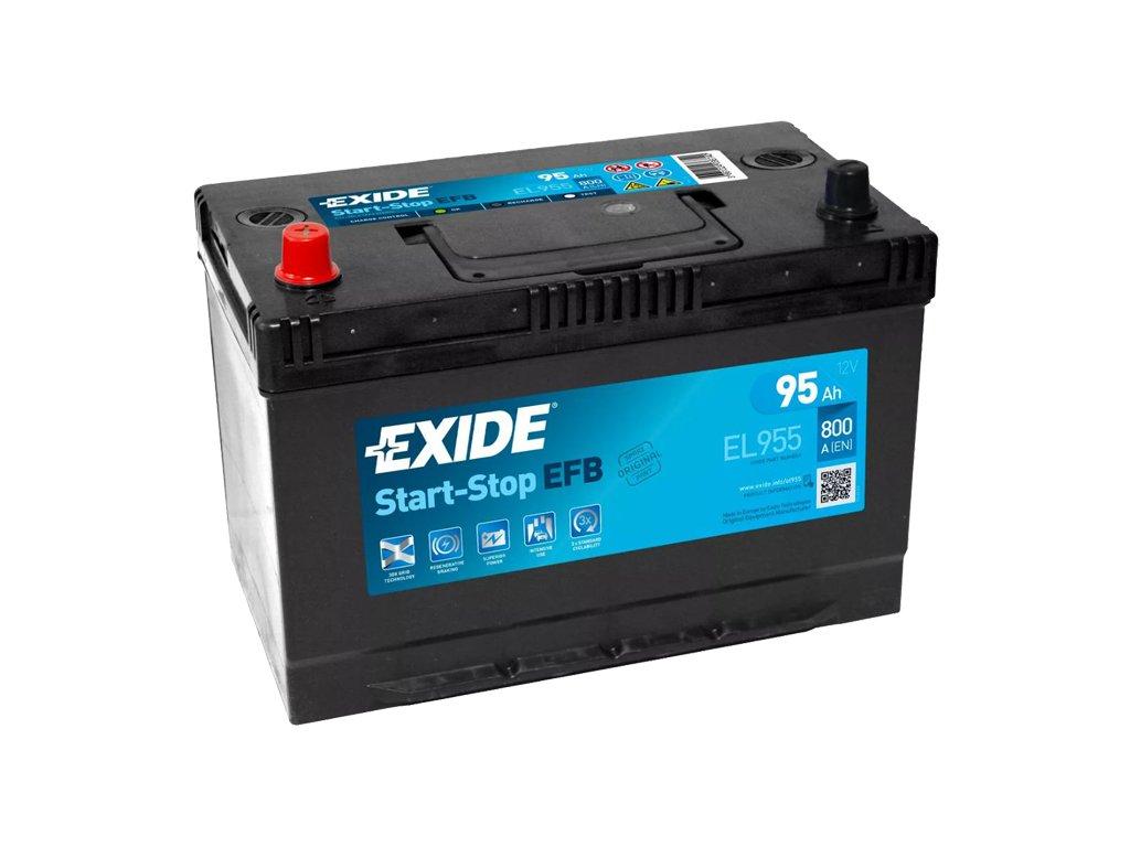 Autobaterie EXIDE START-STOP EFB 95Ah, 12V, EL955