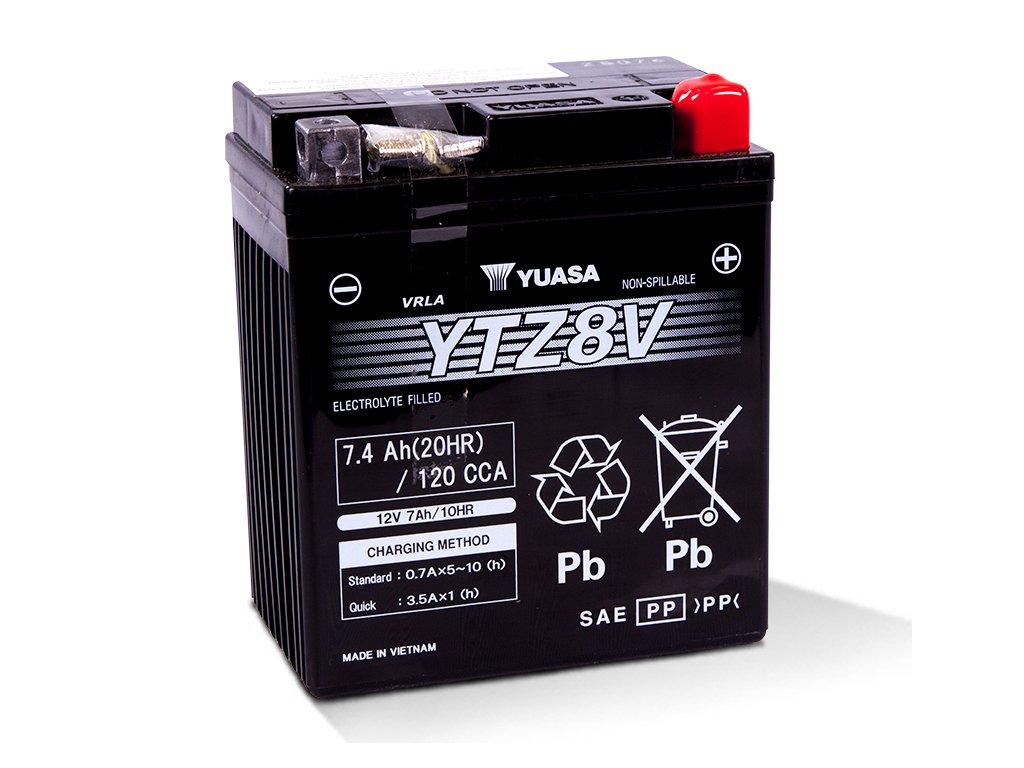 Motobatéria YUASA (originál, factory activated) YTZ8V, 12V,  7Ah