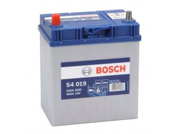 Autobaterie BOSCH S4 019, 40Ah, 12V (0 092 S40 190)