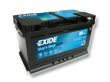 Autobatéria EXIDE START-STOP AGM 80Ah, 12V, EK800