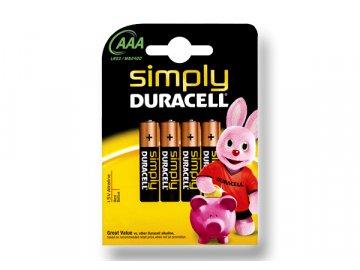 DURACELL Simply článek 1.5V, AAA (MN2400 Simply)