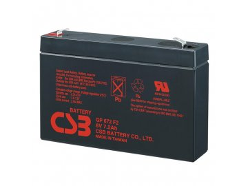 Batéria CSB GP672, 6V, 7,2Ah